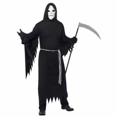 Magere hein kostuum zwart met masker