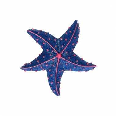 Magneet zeester donkerblauw 7.5 cm