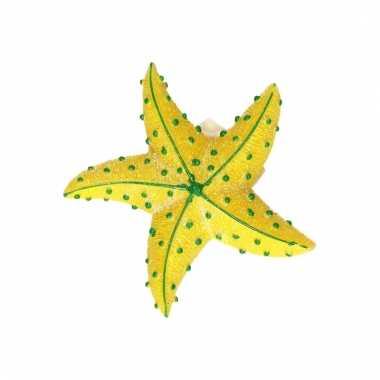 Magneet zeester geel 7.5 cm