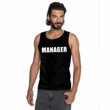 Manager mouwloos shirt zwart voor heren