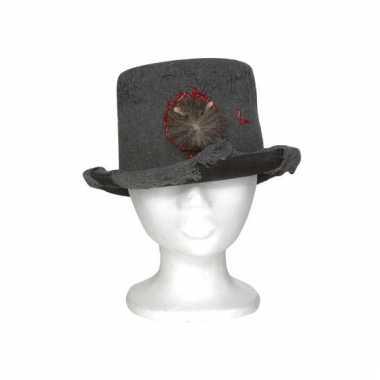 Mannen hoed met rat 13 x 29 x h25 cm