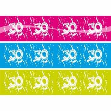 Markeerlint met de cijfers 30