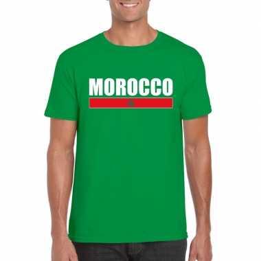 Marokkaanse supporter t-shirt groen voor heren
