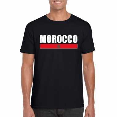 Marokkaanse supporter t-shirt zwart voor heren