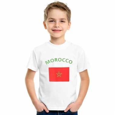 Marokkaanse vlag t-shirts voor kinderen