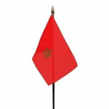 Marokko vlaggetje polyester