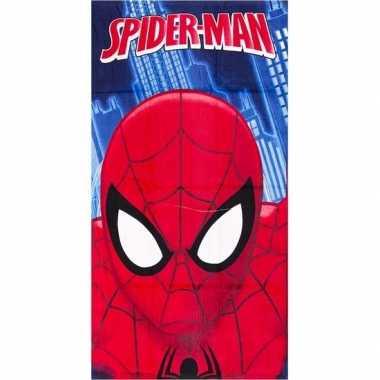 Marvel badlaken spiderman gezicht blauw 70 x 140 cm