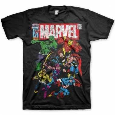 Marvel team t-shirt zwart voor mannen