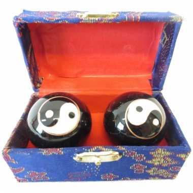 Massagekogels in kistje 3.5 cm yin yang