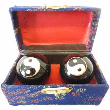 Massagekogels in kistje 4.5 cm yin yang