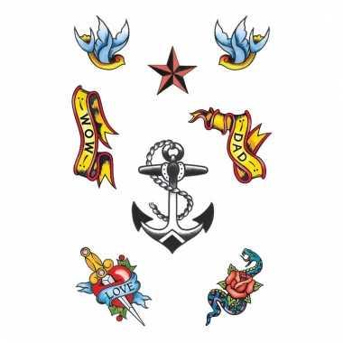 Matroos tatoeage 8 stuks
