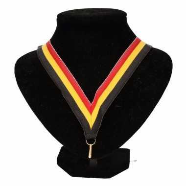 Medaille lint zwart/geel/rood