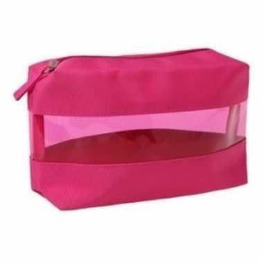 Medicijntasje transparant roze12 cm