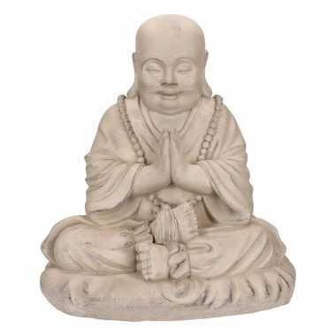 Mediterend boeddha beeld 35 cm