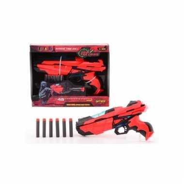 Medium speelgoed pistool met foam kogels 29 cm