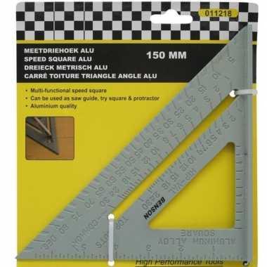 Meetgereedschap meetdriehoek van aluminium 150 mm