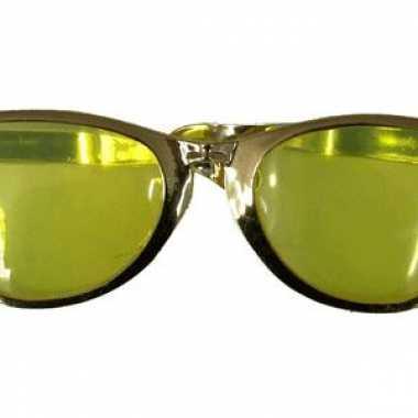 Mega feestbrillen goud