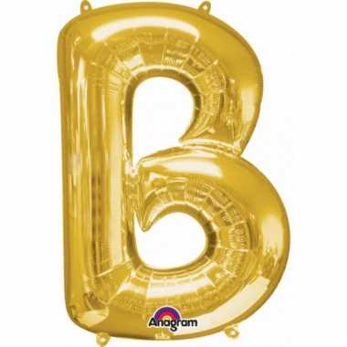 Mega grote gouden ballon letter b