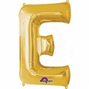 Mega grote gouden ballon letter e
