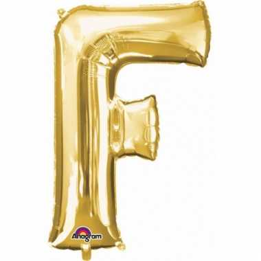 Mega grote gouden ballon letter f