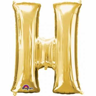 Mega grote gouden ballon letter h