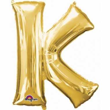 Mega grote gouden ballon letter k