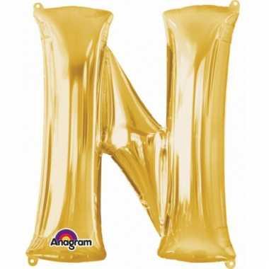 Mega grote gouden ballon letter n