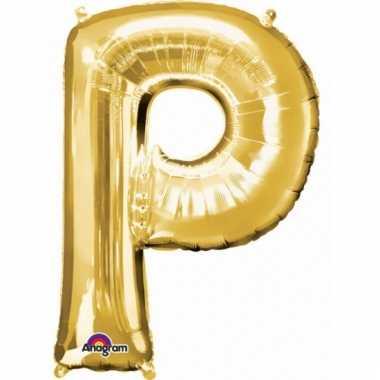 Mega grote gouden ballon letter p