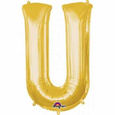 Mega grote gouden ballon letter u