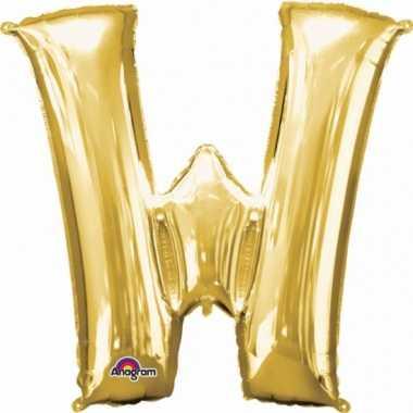 Mega grote gouden ballon letter w