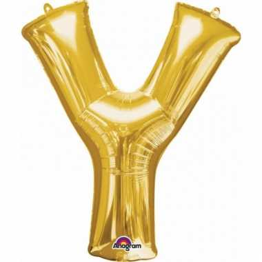 Mega grote gouden ballon letter y