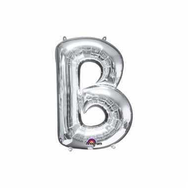 Mega grote zilveren ballon letter b