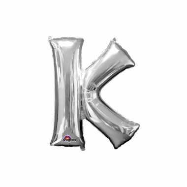 Mega grote zilveren ballon letter k