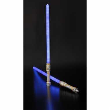Mega led licht zwaard blauw 140 cm