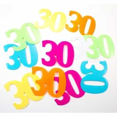 Mega strooi confetti 30 jaar 36 stuks