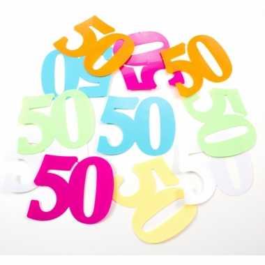 Mega strooi confetti 50 jaar 24 stuks