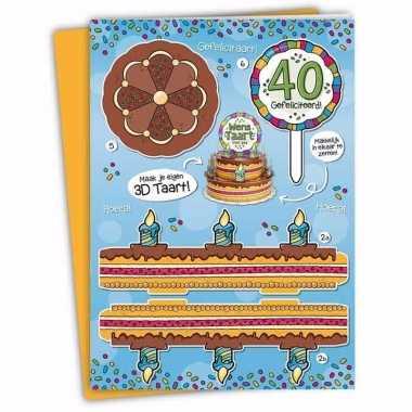 Mega taart voor een 40-jarige verjaardag