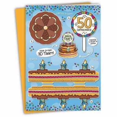 Mega verjaardagskaart 50 jarige abraham 35 x 49 cm