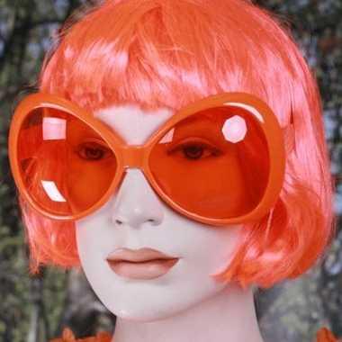 Mega zonnebril oranje