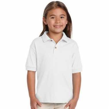 Meisjeskleding poloshirt wit