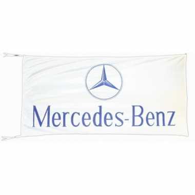 Mercedes benz vlag wit 150 x 75 cm