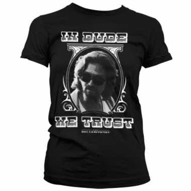 Merchandise big lebowski shirt dames zwart