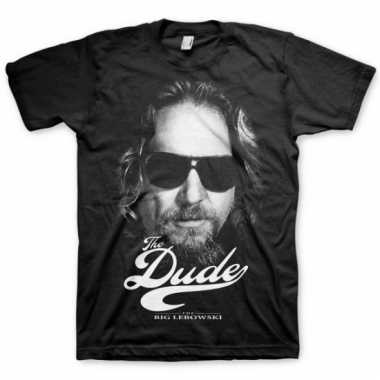 Merchandise big lebowski shirt heren zwart