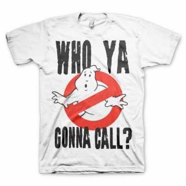 Merchandise ghostbusters shirt heren wit