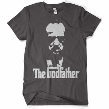 Merchandise godfather shirt grijs heren