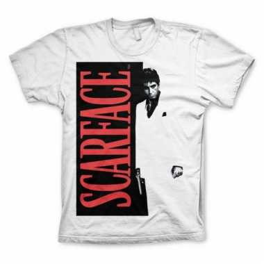 Merchandise heren shirt scarface wit