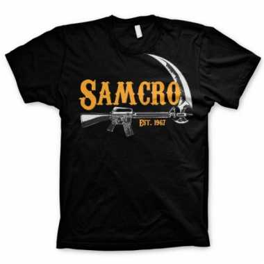 Merchandise samcro t-shirt heren zwart