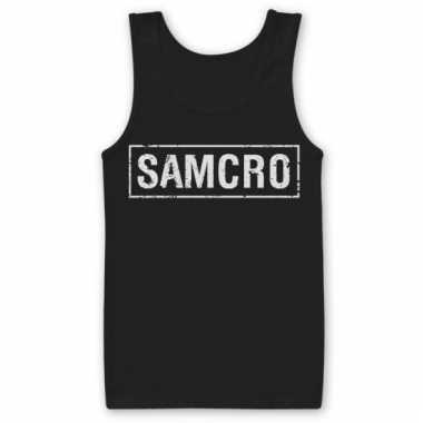 Merchandise samcro tanktop heren zwart