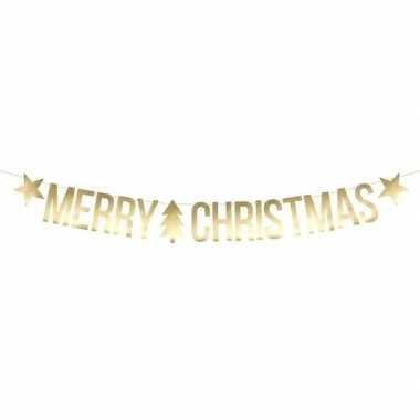 Merry christmas kerst feest/party banner letterslinger versiering kar