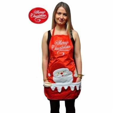 Merry christmas verkleed schort
